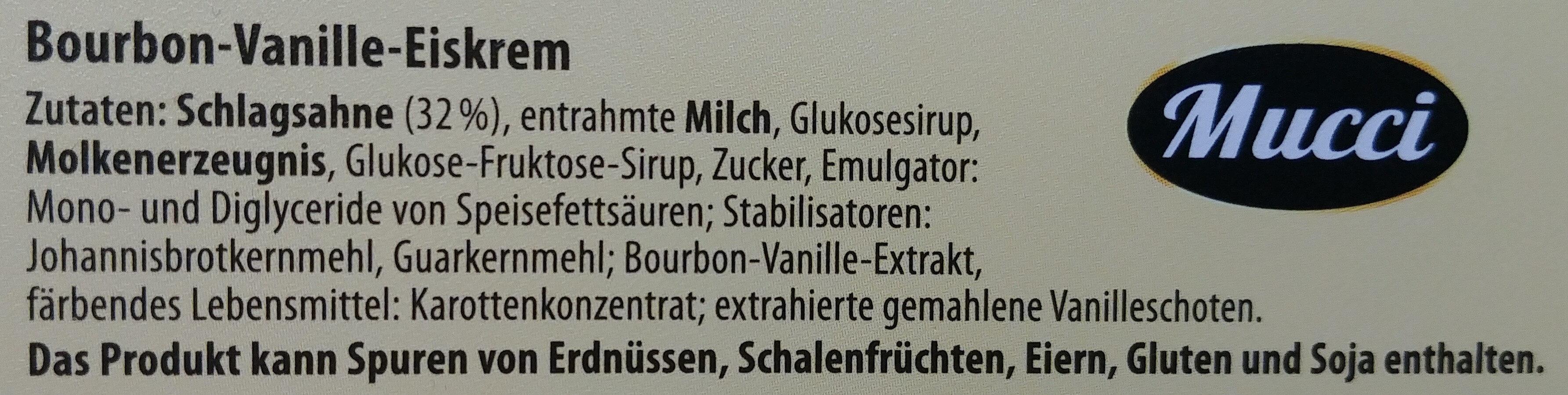 Bauron Vanille Eiskrem - Inhaltsstoffe
