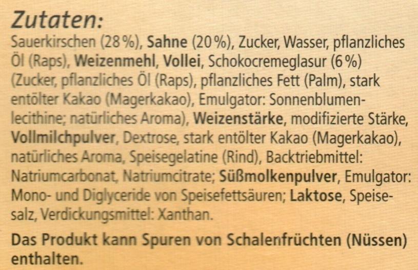 Donauwellen - Ingrediënten