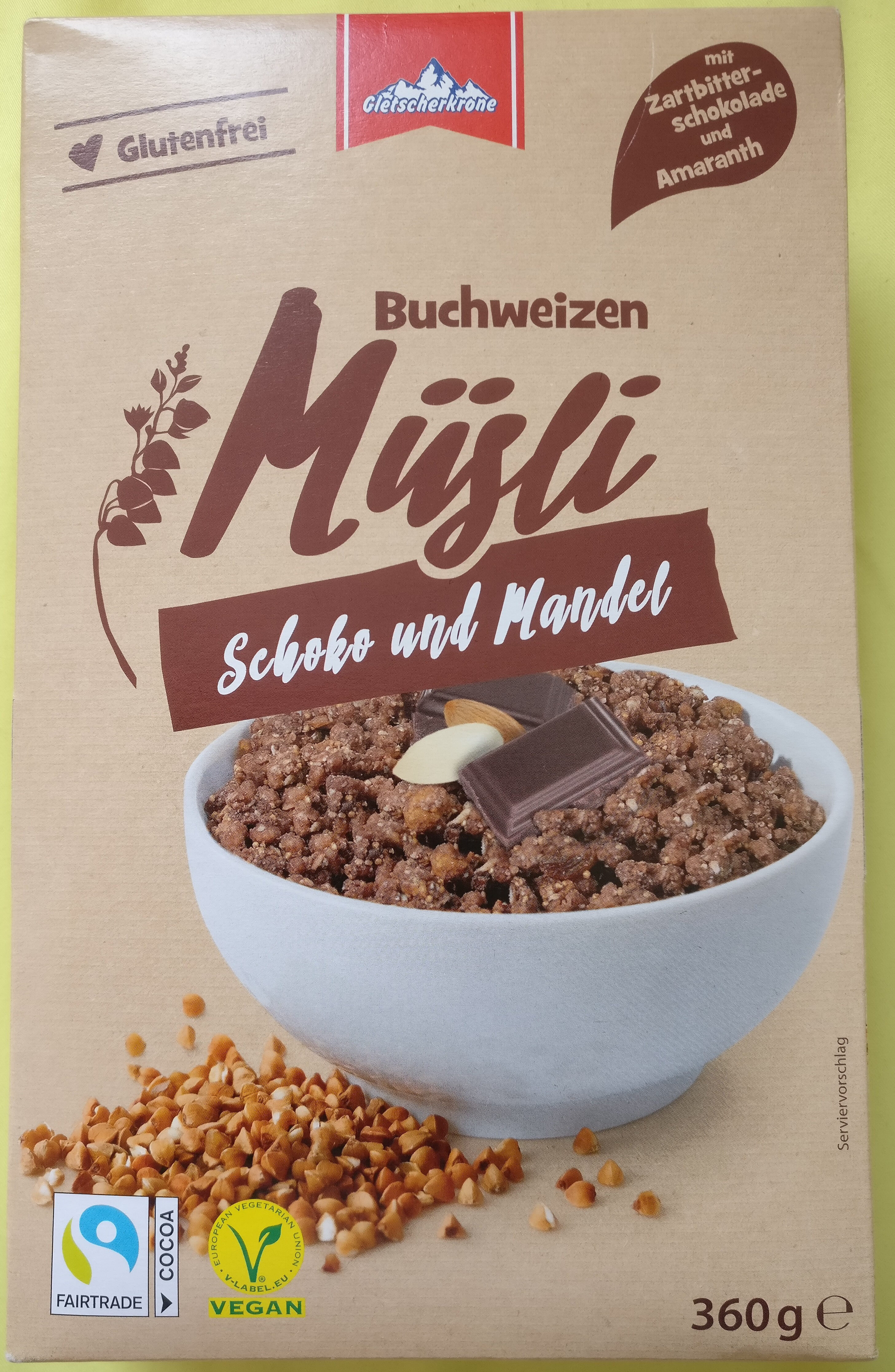 Buchweizen Müsli Schoko und Mandel - Product - de