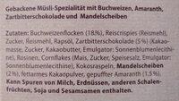 Buchweizen Müsli Schoko und Mandel - Ingredients - de