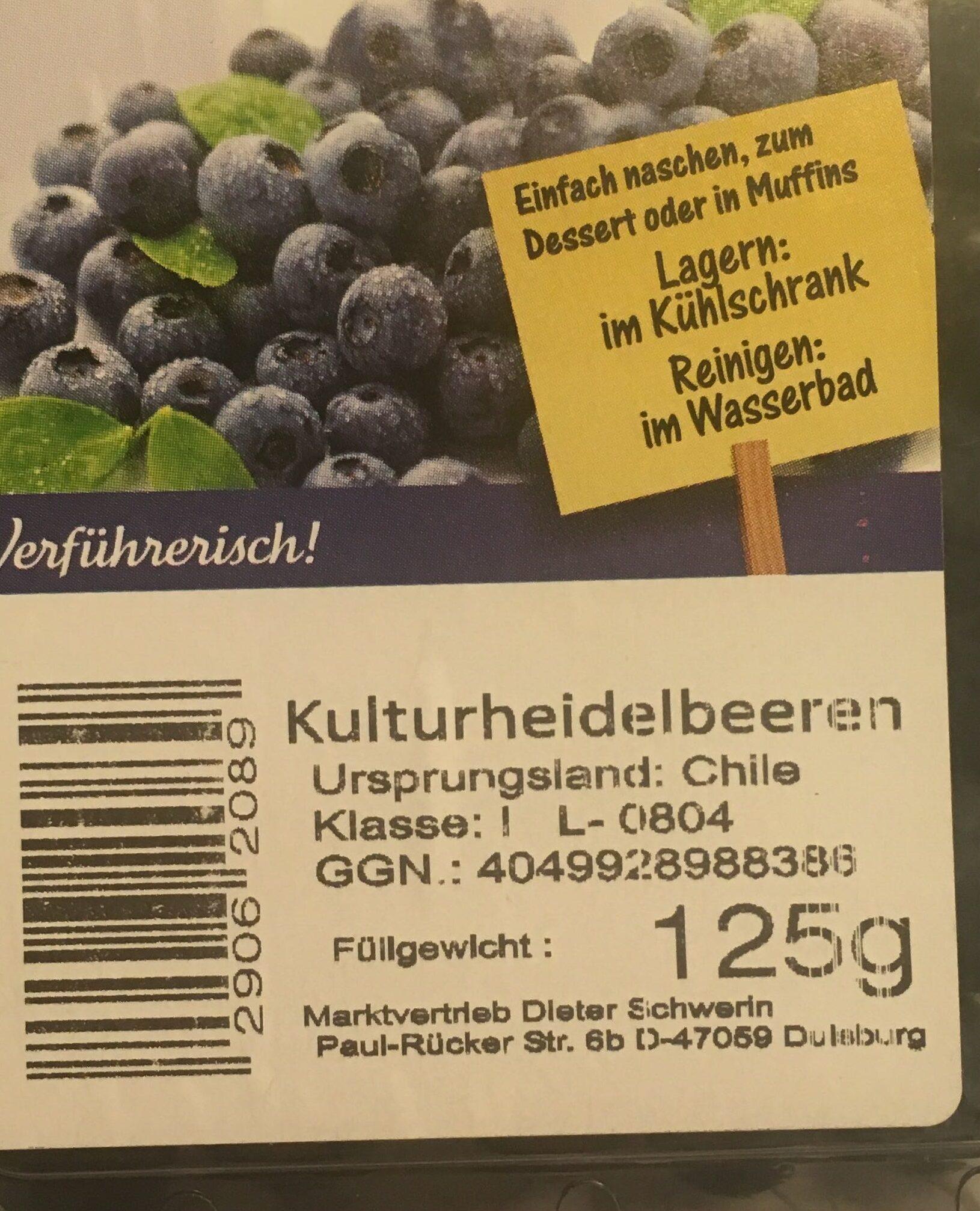 Heidelbeeren - Ingrediënten - de