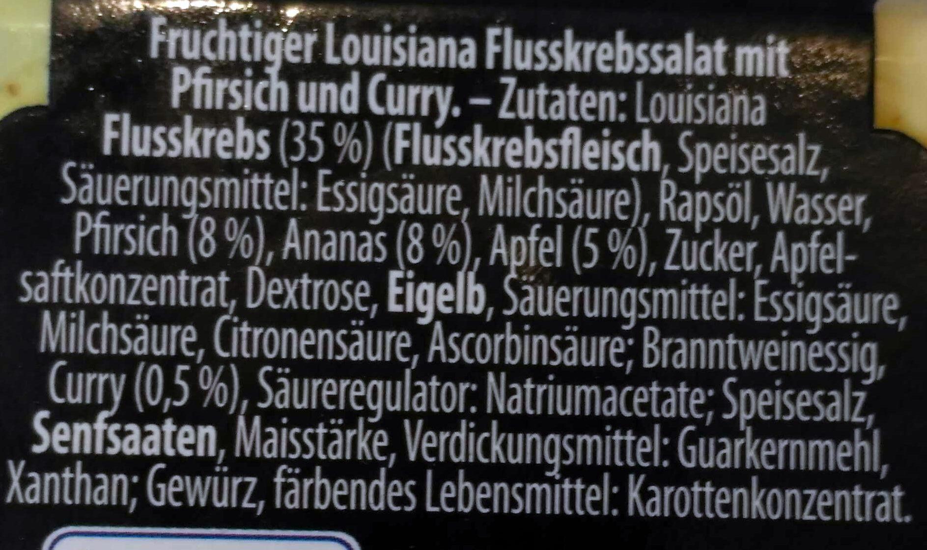 Louisiana Flusskrebssalat mit Pfirsich und Curry - Ingredients - de