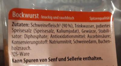 Bockwurst - Ingrédients - de