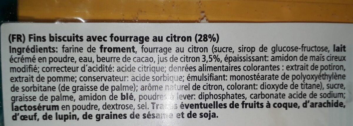Colombine - Ingredients - fr
