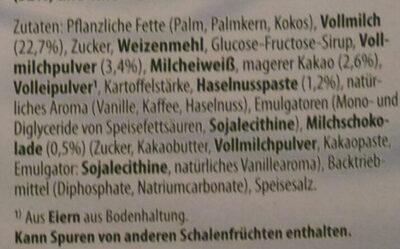 Milch Snack Schoko-Nuss - Ingrediënten