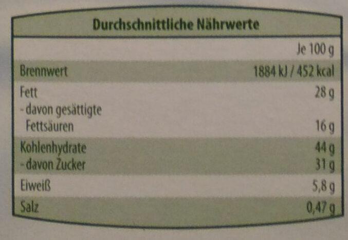 Milch Snack Schoko-Nuss - Voedigswaarden