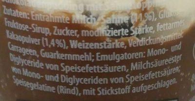Dessertcreme & Sahne Schoko - Ingrediënten