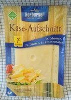 7 Scheiben Käse-Aufschnitt 4x Edamer, 2x Tilsiter, 1x Emmentaler - Produkt