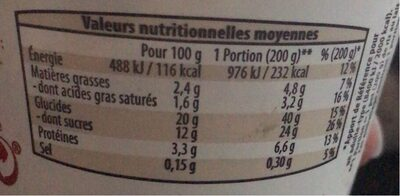 Riz au lait chocolat - Nutrition facts - de