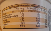 Riz au lait chocolat - Informations nutritionnelles - fr