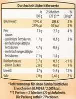 Veggie-Aufschnitt - Informations nutritionnelles - de