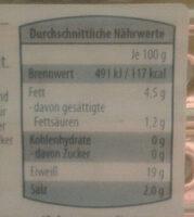Forellen-Filets Natur - Nutrition facts - de