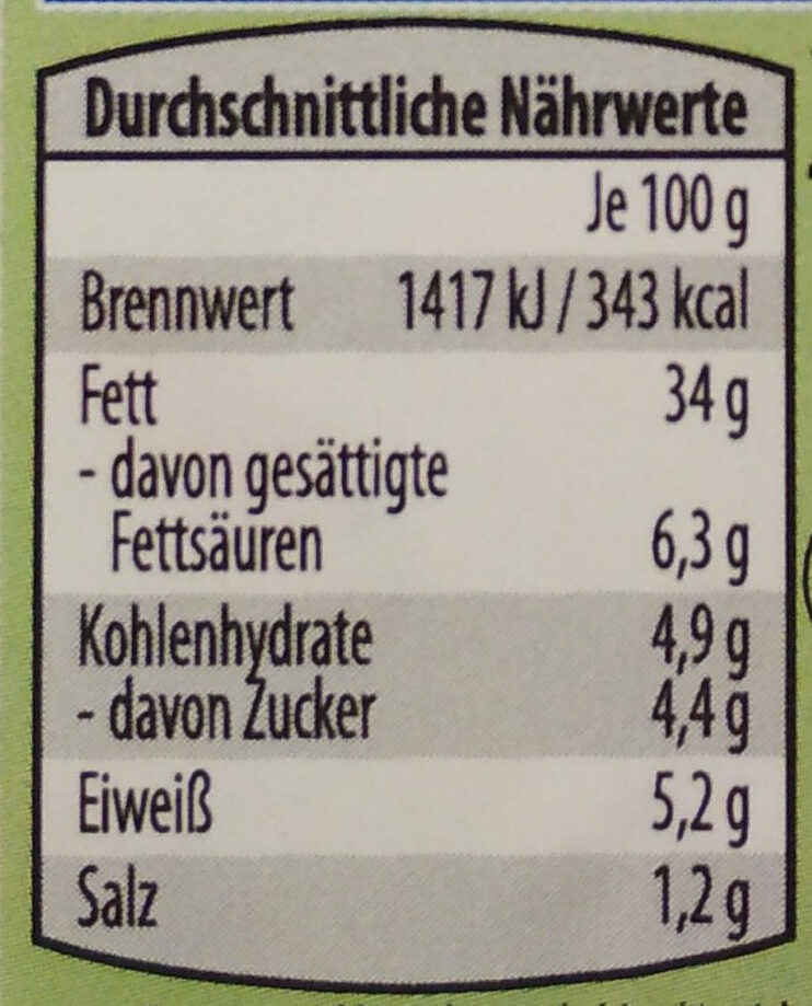 Ofterdinger Kräuter/Joghurt Fleischsalat - Nutrition facts