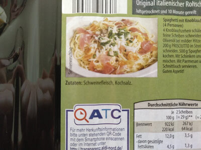 Prosciutto - Ingredients - de