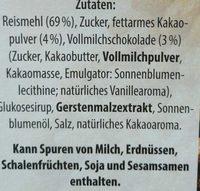Schoko Reis - Ingredients