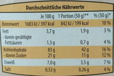 Schoko Reis - Nutrition facts