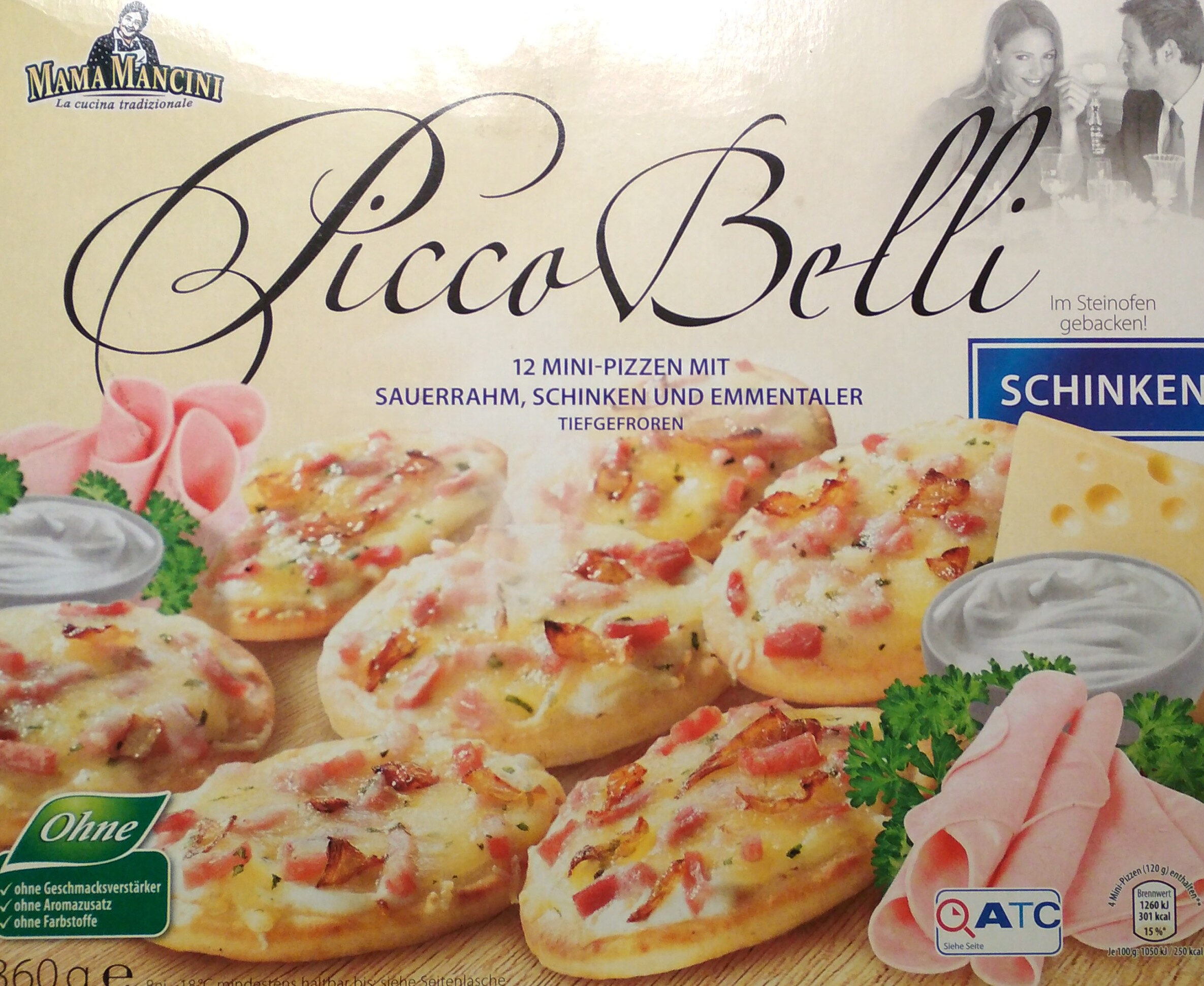 Picco Belli Mini-Pizzen Schinken - Product - de