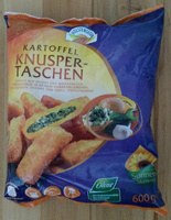 Kartoffel Knuspertaschen gefüllt mit Spinat und Mozzarella - Produkt