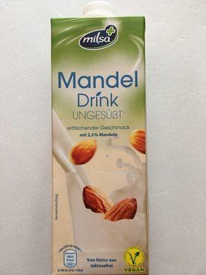 Mandel Drink ungesüßt - milsa - Produkt