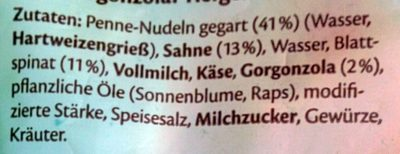 Penne Gorgonzola - Ingredients - de