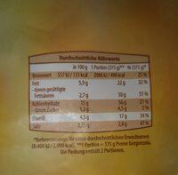 Penne Gorgonzola - Nutrition facts - de