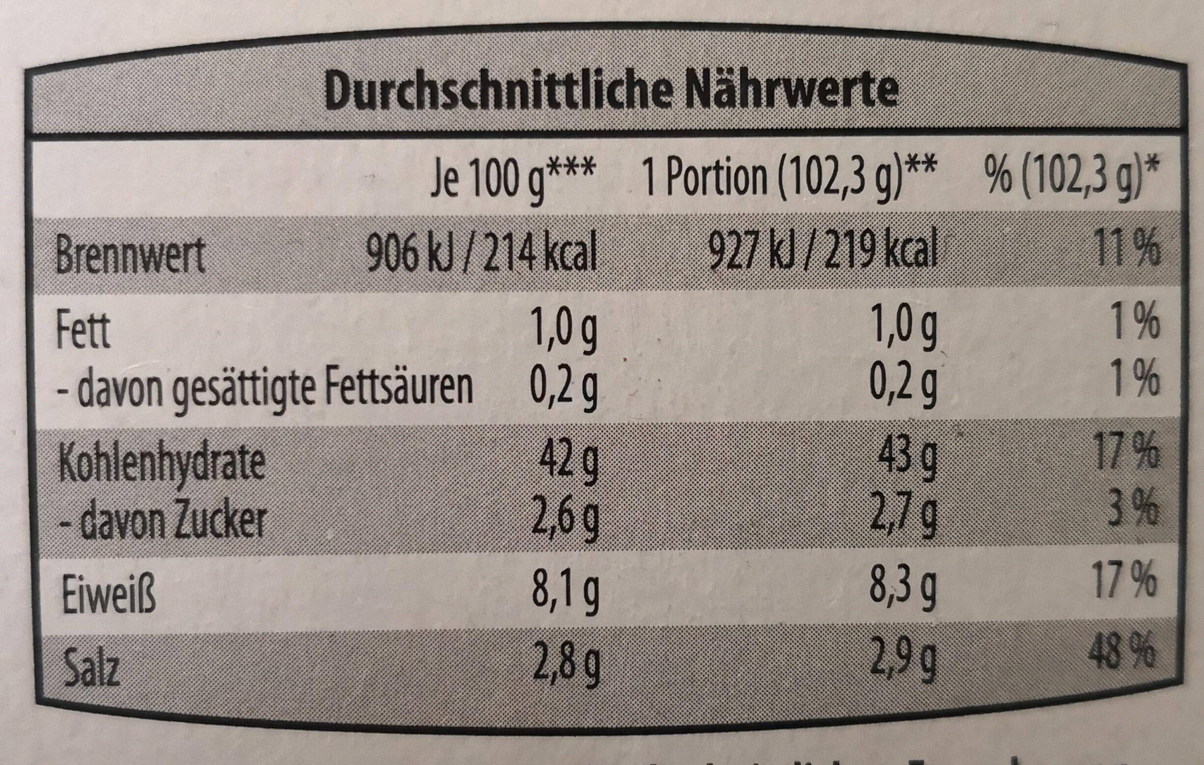 Laugenstangen - Ingredients