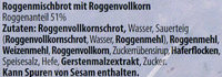 Volles Korn dunkel - Ingredients