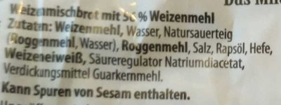 Das Milde Weizenmischbrot - Ingredients