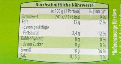 Lachsfilets - Informations nutritionnelles - de