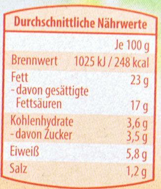 "Fraîcho Frischkäse ""Kirschtomate-Chili"" - Nutrition facts"