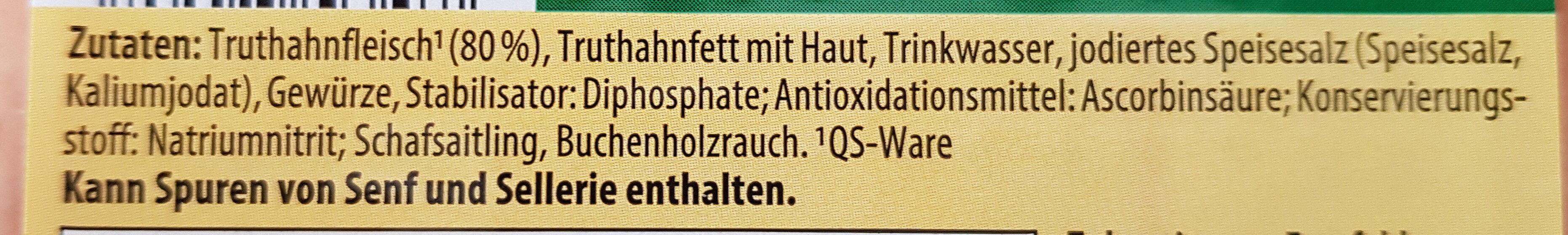 Geflügel-Wiener - Inhaltsstoffe