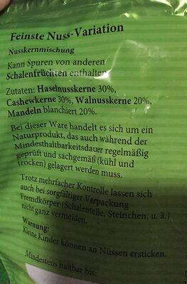 Nuss-Variation - Ingredients
