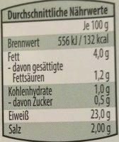 Hähnchenbrust- Filetstücke - Nährwertangaben