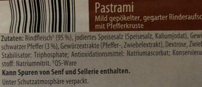 Pastrami - Ingrédients - de