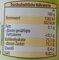 Honig cremig - Voedingswaarden