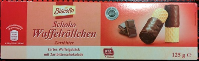 Schoko Waffelröllchen Zartbitter - Product - de