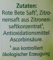 Rote Beete Saft - Ingrediënten - de