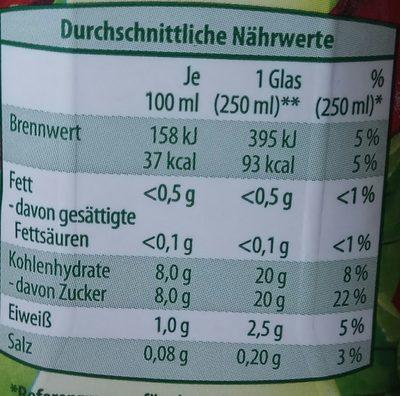 Rote Beete Saft - Voedingswaarden - de
