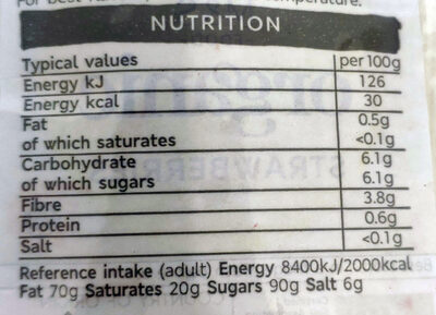 Organic Strawberries - Nutrition facts - en