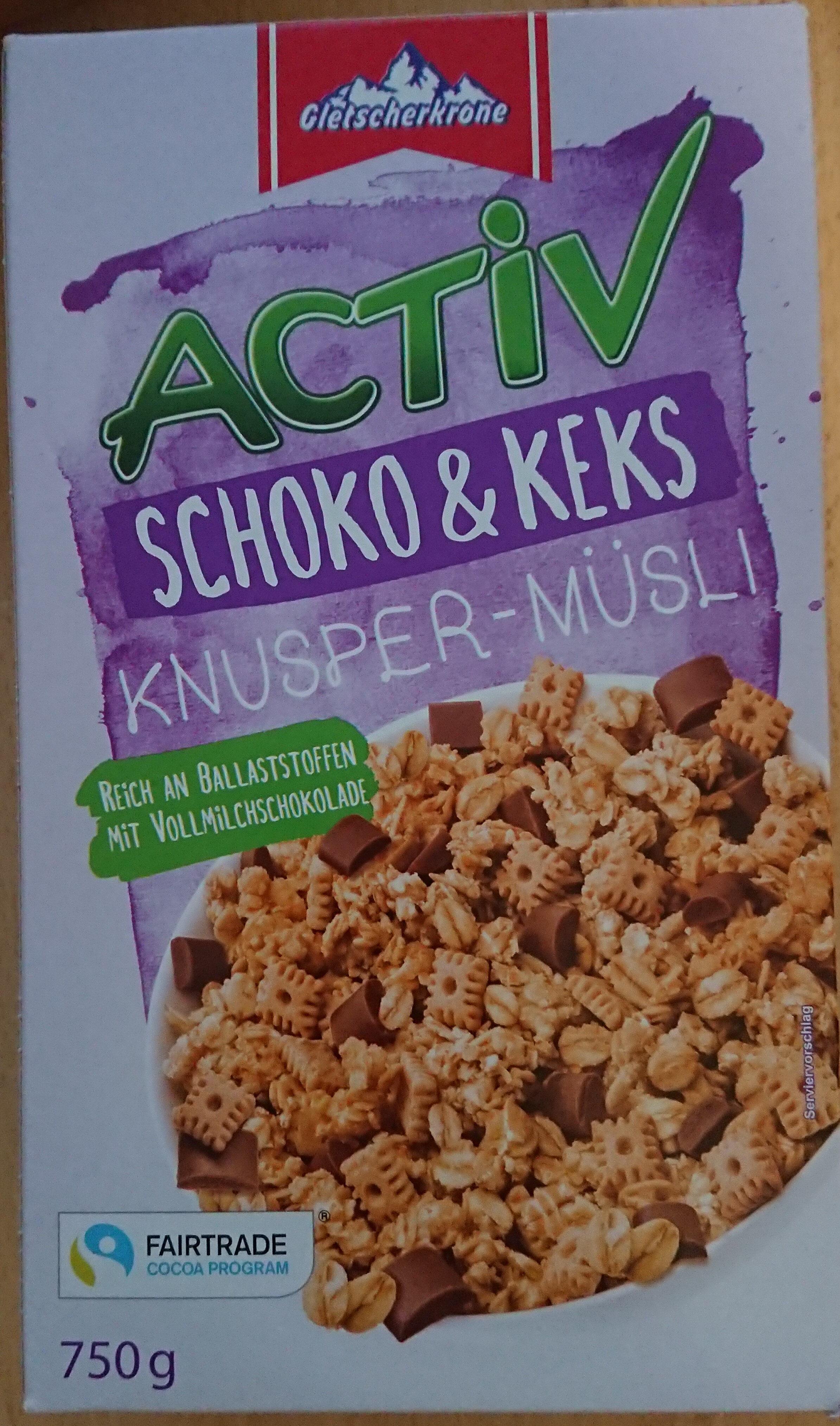 Activ Knusper-Müsli (Himbeer Joghurt, Schoko, Pur) - Product - de