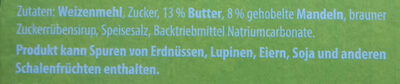 Butter Mandel-gebäck - Ingredients
