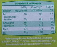 Butter Mandel-gebäck - Nutrition facts