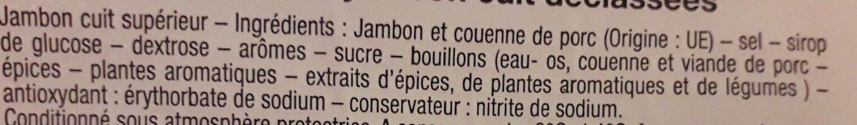 Tranches de jambon cuit déclassées - Ingredientes
