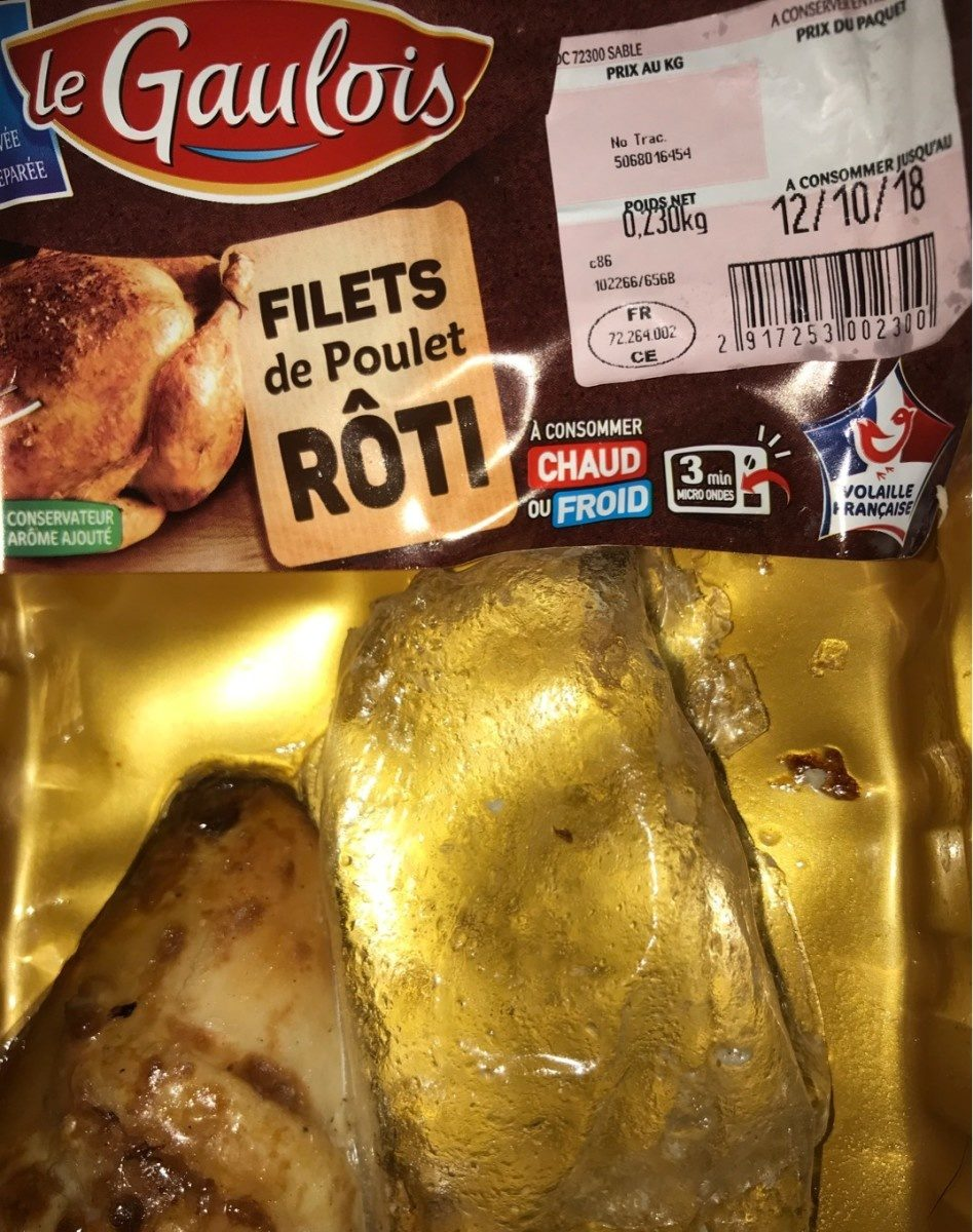 Filets de poulet roti - Produit