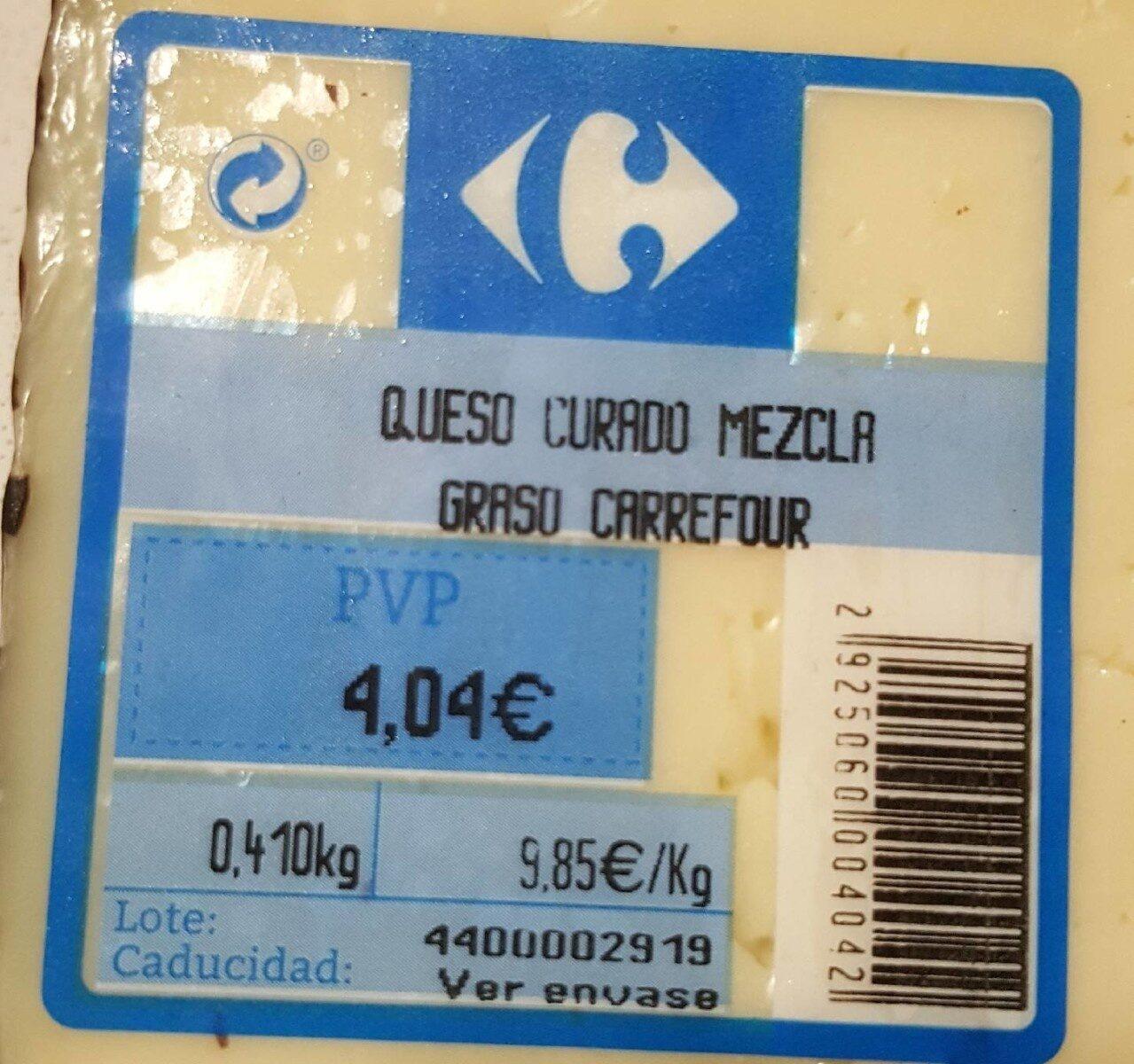QUESO CURADO MEZCLA GRADO CARREFOUR - Produit - es