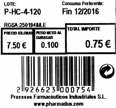 Romero seco molido - Informations nutritionnelles