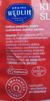 Kiełbasa śląska - Składniki - pl