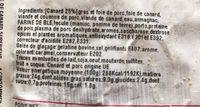 Pate de canard superieur - Ingredients - fr