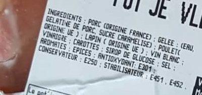 Pot'Je Vlesh - Ingredients