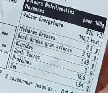 Pot'Je Vlesh - Nutrition facts